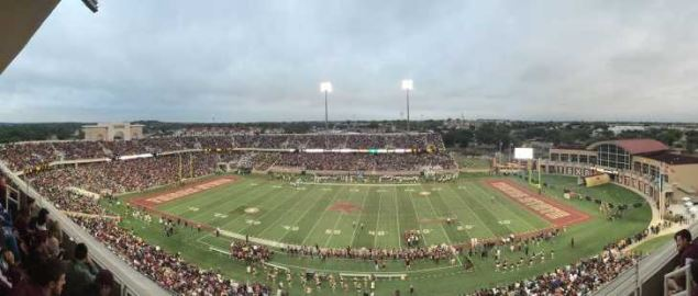 View from the Champions Club during the Texas State v Navy football game.