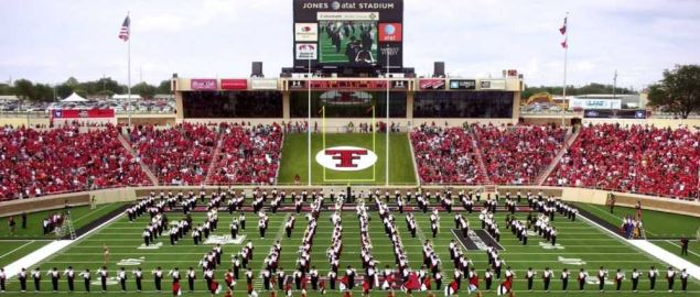 Prior to first game of 2008/09 Red Raiders football season at Texas Tech University.