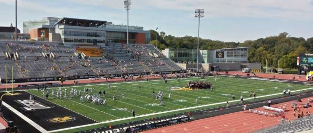 View of Johnny Unitas Stadium before a football game versus New Hampshire on Oct 5 2013.