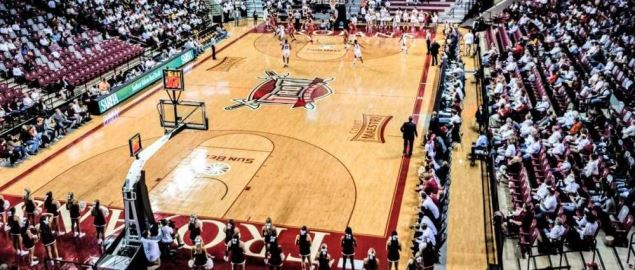 Troy's Trojan Arena during a home game.