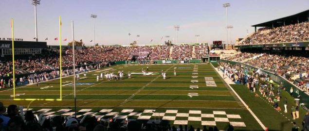 Yulman Stadium during Tulane's first homecoming in 2014.