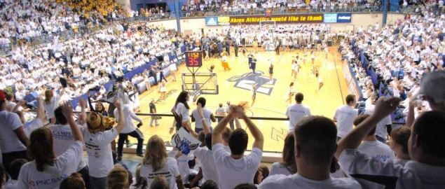 Interior of the James A. Rhodes Arena in Akron, Ohio.