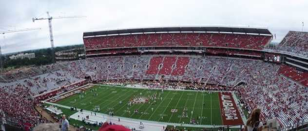 Panoramic view of Bryant-Denny Stadium on September 19, 2009. Alabama vs North Texas.