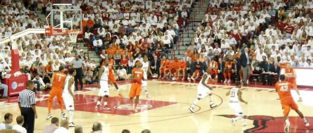 The Arkansas Razorbacks vs. Syracuse Orange at Bud Walton Arena.