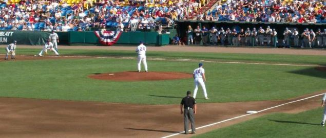 Florida and UCLA play game two at the 2010 College World Series.