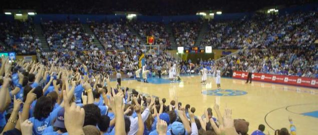 At Pauley Pavilion on 1/8/05 when UCLA came from 22 down to upset Washington.