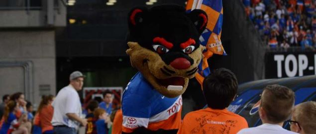 University of Cincinnati's Bearcat mascot.