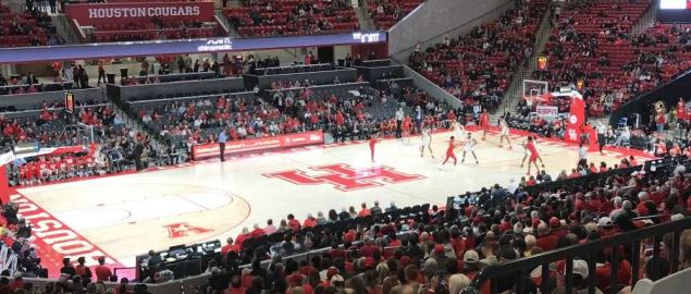 Houston Cougar's Fertitta Center during a home game in December 2018.