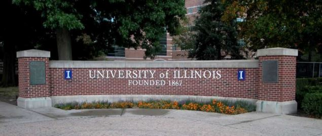 University of Illinois at Urbana-Champaign entrance.