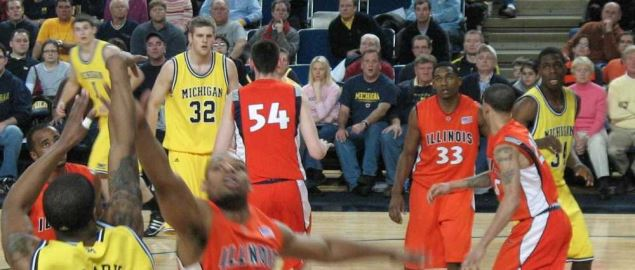 The Illinois Fighting Illini vs the Michigan Wolverines.