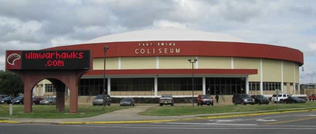 Fant–Ewing Coliseum on the campus of the University of Louisiana at Monroe.