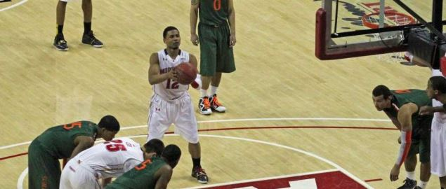 Miami vs Maryland Basketball, Comcast Center, College Park, Maryland.
