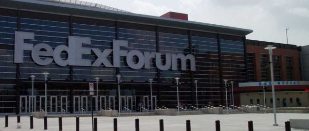 Memphis Tigers home court, FedExForum in downtown Memphis, TN.