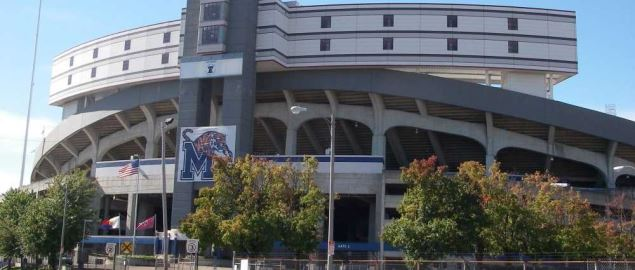 Memphis Tigers Liberty Bowl Stadium entrance.