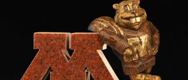The Minnesota Golden Gopher statue.