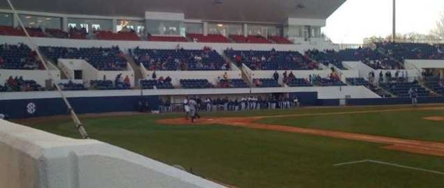 Newly expanded Swayze Field at The University of Mississippi.
