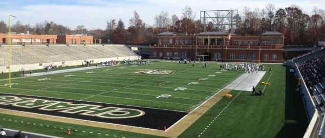 Jerry Richardson Stadium, home of the UNC Charlotte 49ers.
