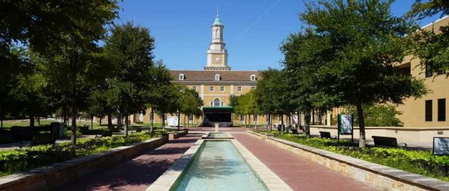 The Hurley Administration Building on the campus of the University of North Texas.