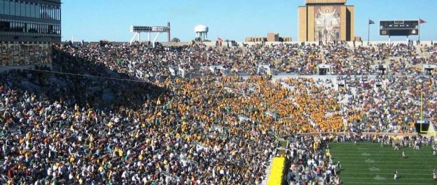 Notre Dame playing at home vs USC in 2005.