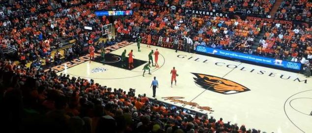 Gill Coliseum during a Oregon State/Oregon game.