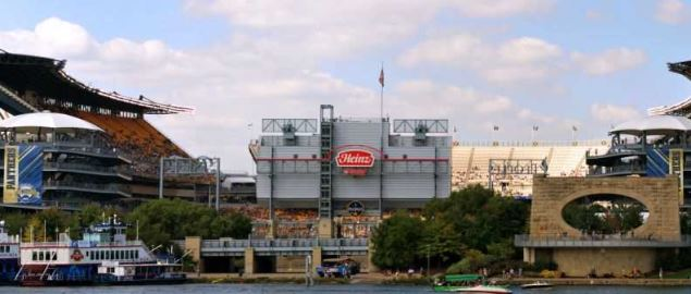 Heinz Field, home field of the Pittsburgh Panthers football team.