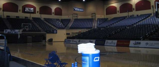 Inside the Jenny Craig Pavilion, home of the San Diego Toreros basketball team.