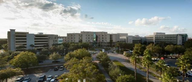 Moffitt Cancer Center in Tampa, FL, on campus of the University of South Florida.