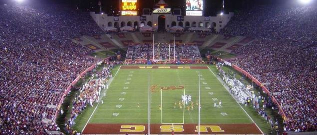 The Los Angeles Memorial Coliseum, home of University of the Southern California Trojans.