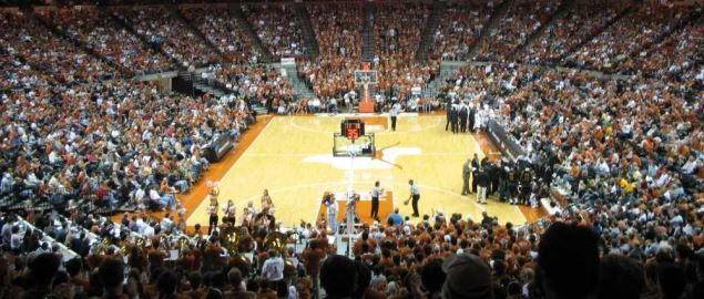 Texas Basketball game at the Frank Erwin Center against the Baylor Bears.
