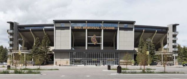 War Memorial Stadium at the University of Wyoming in Laramie, Wyoming.
