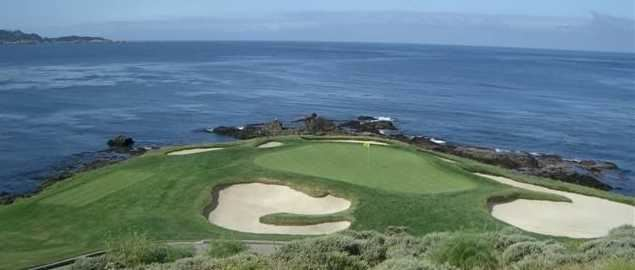 7th hole at Pebble Beach Golf Links home of the 2019 US Open