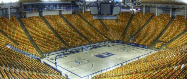 The interior of the Dee Glen Smith Spectrum on the Campus of Utah State University.