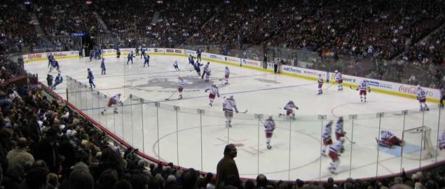 The Vancouver Canucks take on the NY Rangers at Rogers Arena.